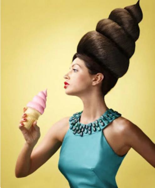 Прическа для рекламы мороженого