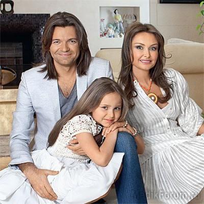 Дмитрий Маликов и его семья - жена и дочь