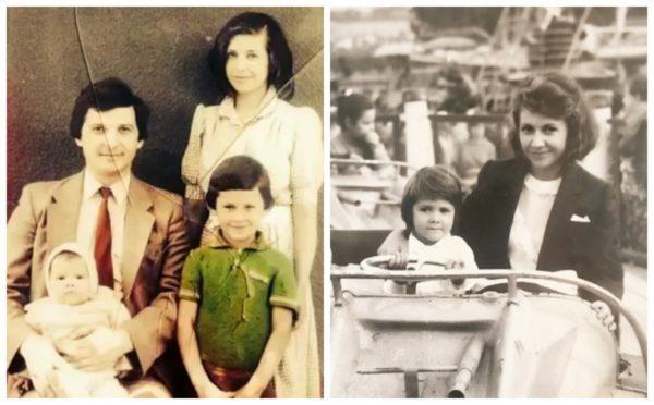 Архівні фото сім'ї Балан. Зліва Міхай, Людмила, маленька Санда і підріс Дан. Справа Людмила з Санді
