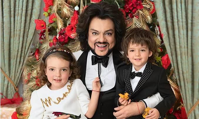 Філіп Кіркоров з дітьми