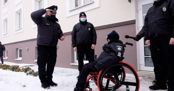 Принятие в ряды полицейских