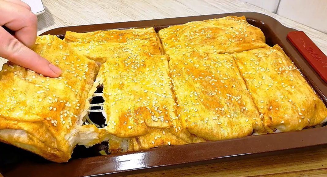Блюдо из лаваша и куриного филе
