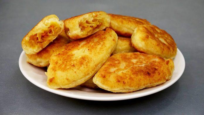 Пиріжки смажені з бездріжджового тіста