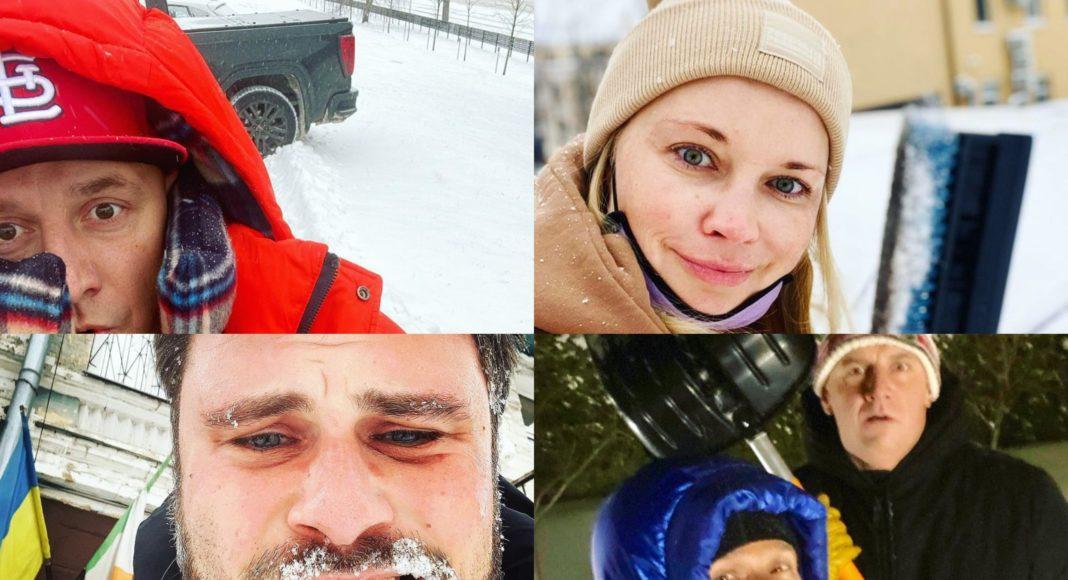Украинские звезды, которые отправились на борьбу со снегом