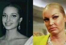 Анастасія Волочкова в молодості і зараз