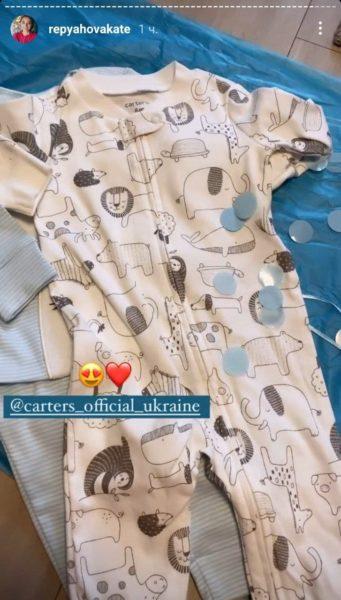 Екатерина Репяхова показала первую одежду, которую купила своему сыну
