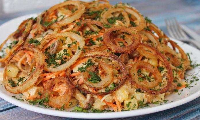 Смачний м'ясний салат
