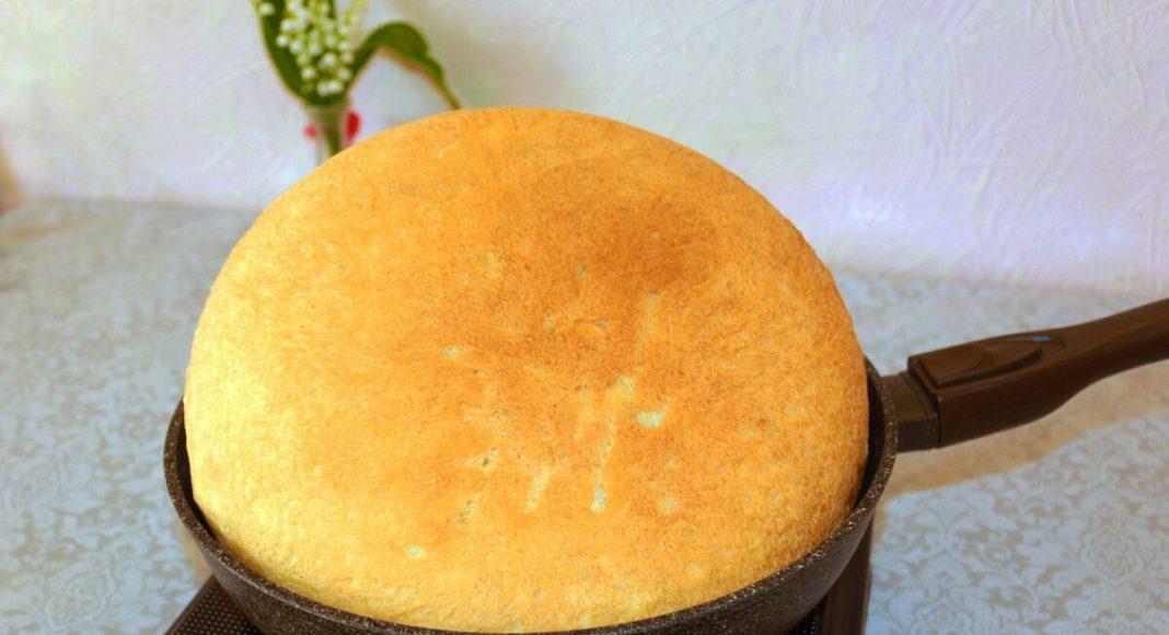 Домашний хлеб на сковороде