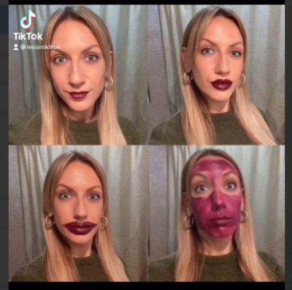 """Леся Никитюк продемонструвала свій """"бойове розфарбування"""" на обличчі"""