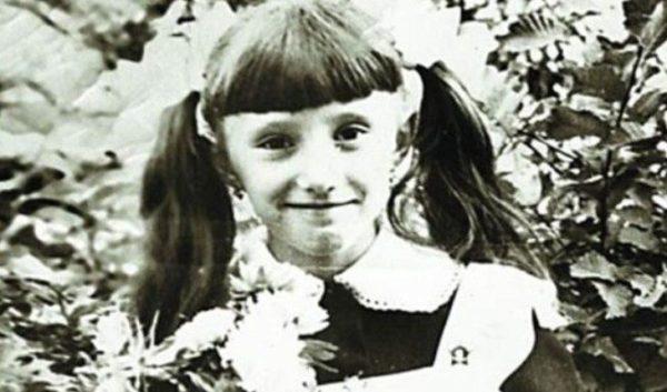 Олена Воробей в дитинстві