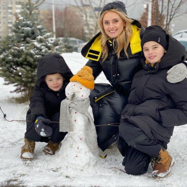 Ирина Федишин с сыновьями