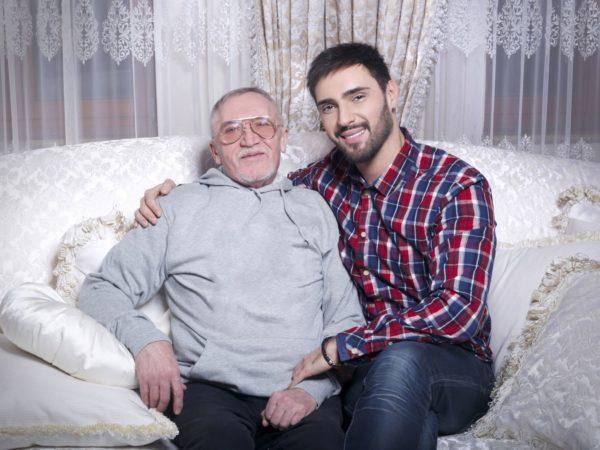 Виталий Козловский с папой Виталием Сергеевичем