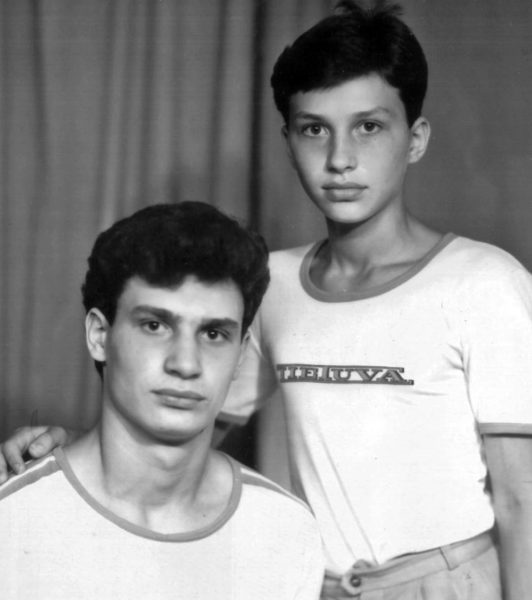 Виталий и Владимир Кличко в детстве