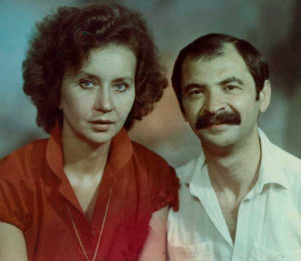 Илья Олейников и его жена Ирина в молодости