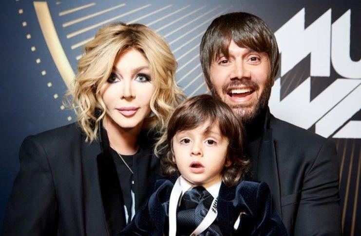 Ирина Билык с бывшим мужем и сыном
