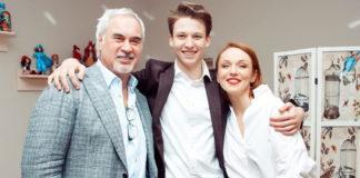 Валерій Меладзе та Альбіна Джанабаєва зі своїм старшим сином Костею