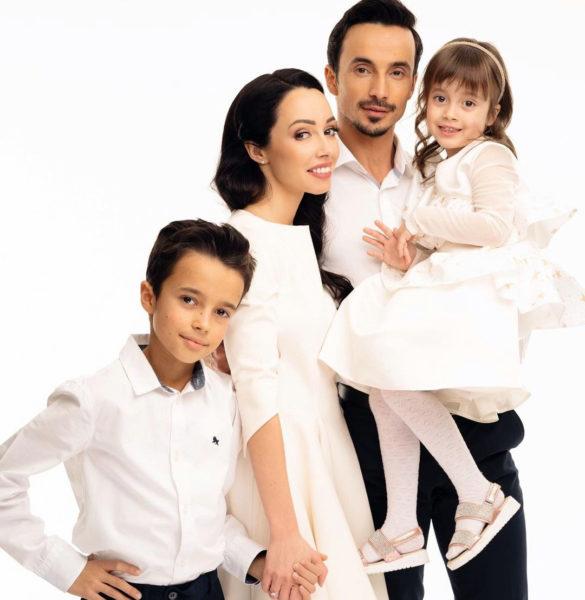 Екатерина Кухар и Александр Стоянов с детьми