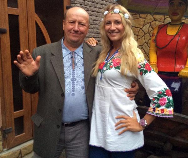 Леся Никитюк з татом