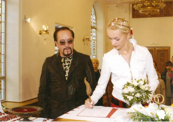Леонид Борткевич со своей третьей женой Татьяной Родянко