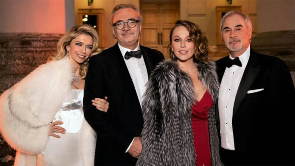 Вера Брежнева с Константином Меладзе и Альбина Джанабаева с Валерием Меладзе