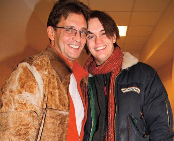 Александр Домогаров с сыном Сашей