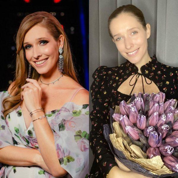 Катерина Осадча з макіяжем і без