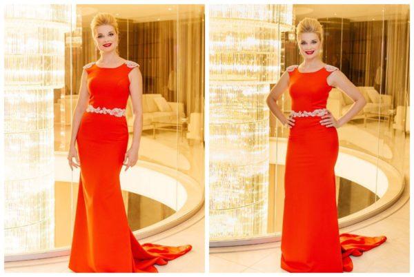Лідія Таран в червоній сукні
