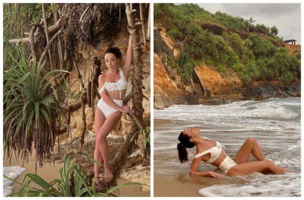 Катерина Кухар на пляжі