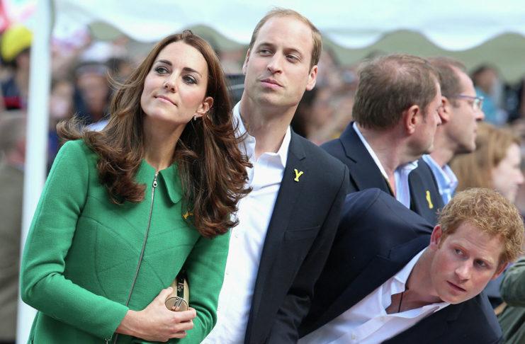 Кейт, Уильям и Гарри