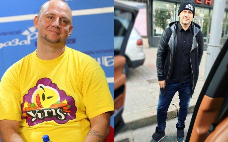 Потап до и после похудения