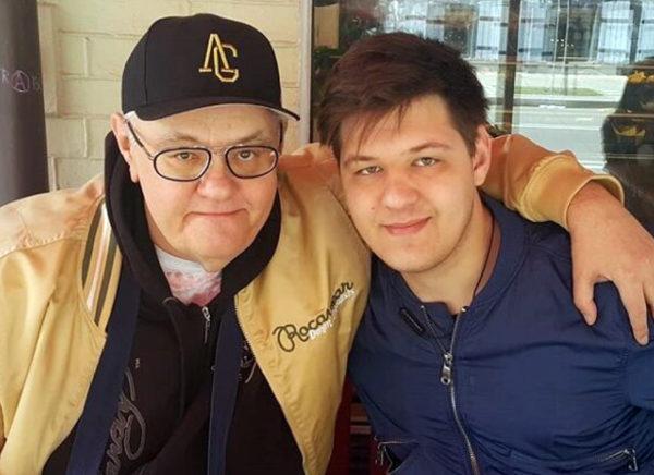 Сергій Сивохо зі своїм сином Савою