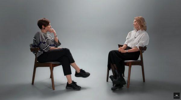 Юлия Высоцкая на интервью у Катерины Гордеевой