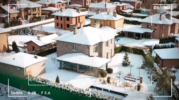 Дом Потапа и Насти с высоты