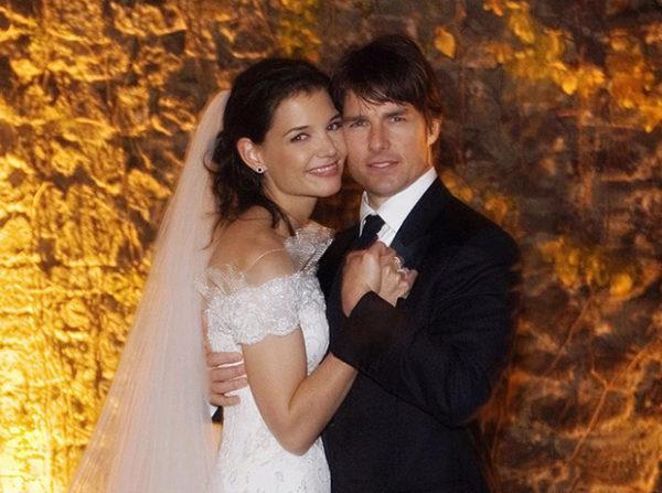 Свадебное фото Тома Круза и Кейти Холмс, 2006 г.
