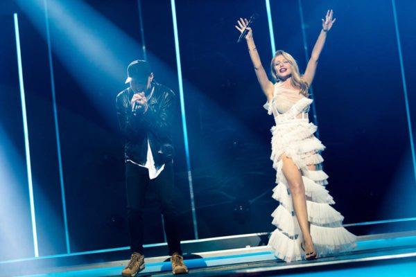 Андрей Хлывнюк и Тина Кароль в платье за 340 тысяч на Вечере премьер
