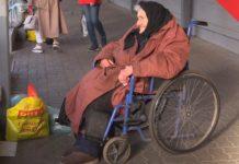 Бабушка в инвалидной коляске