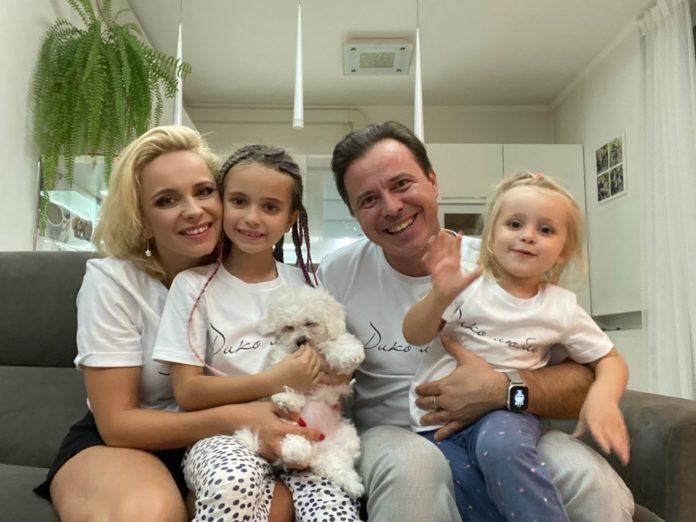 Лілія Ребрик з сім'єю