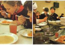 Обед в школьной столовой СССР