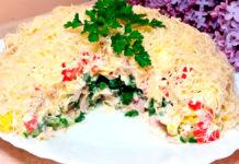 Непревзойденный Майский салат к вашему столу - простой пошаговый рецепт