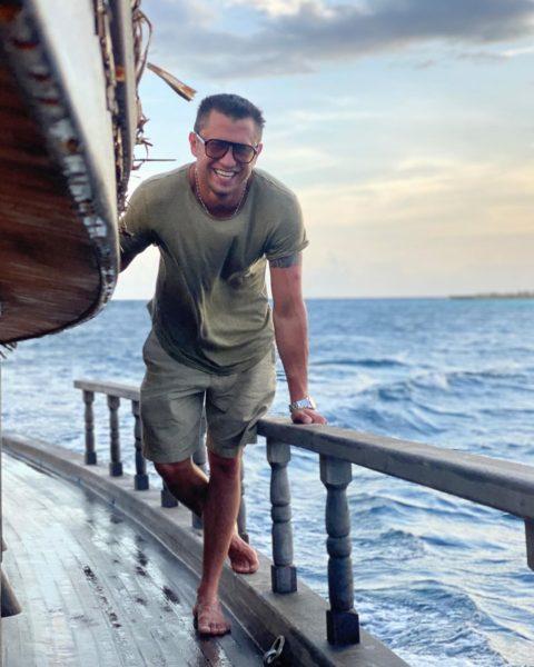 Павел Прилучный на Мальдивах