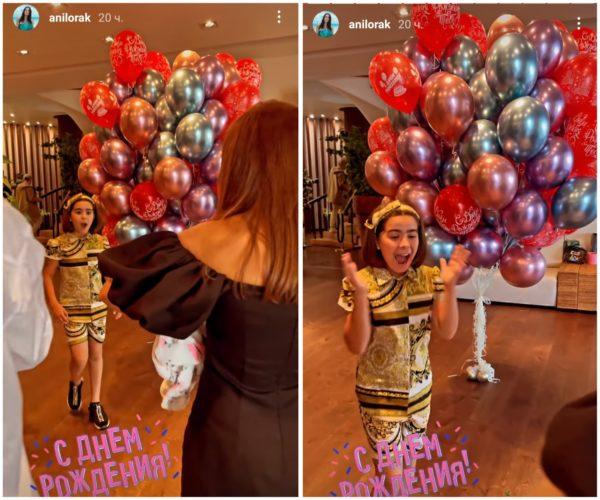 Ани Лорак вручает подарок дочери