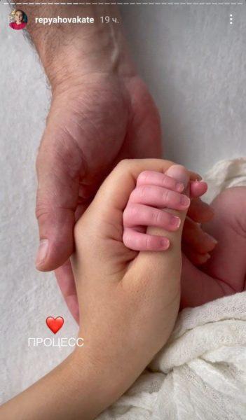Катерина Репяхова зробила фотосесію дитині