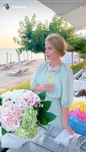 Ольга Фреймут в отпуске
