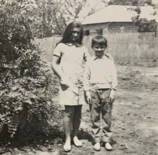 Людмила Балан со своим братом