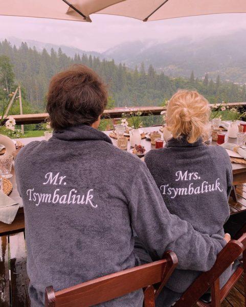Тарас Цымбалюк с женой