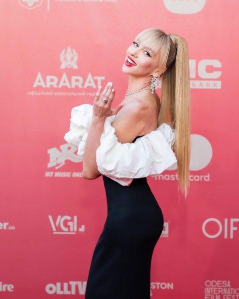 Оля Полякова на Одесском кинофестивале