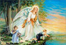 Ангел-хранитель оберегает детей