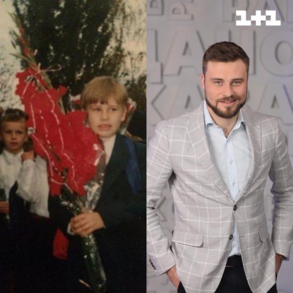 Єгор Гордєєв в шкільні роки і зараз