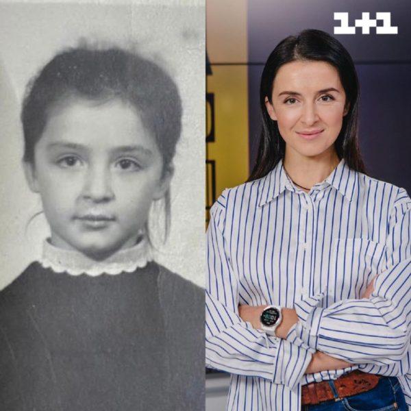 Валентина Хамайко в шкільні роки і зараз