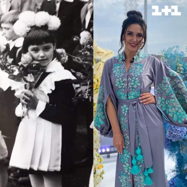 Людмила Барбір в шкільні роки і зараз